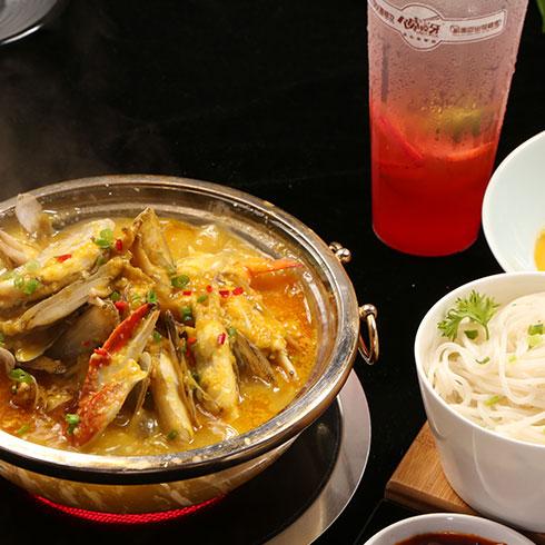 鲜贝恋小海鲜-蟹钳蛏子水晶锅