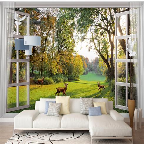 神奇金属装饰画-沙发背景墙
