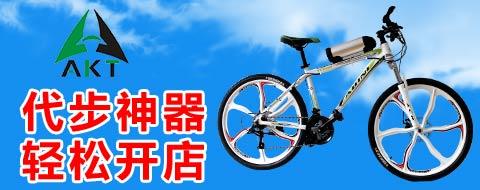 阿卡特电动自行车采用铝合金一体车架