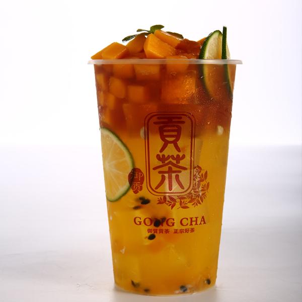 御质贡茶茶饮-鲜柠百香冰茶