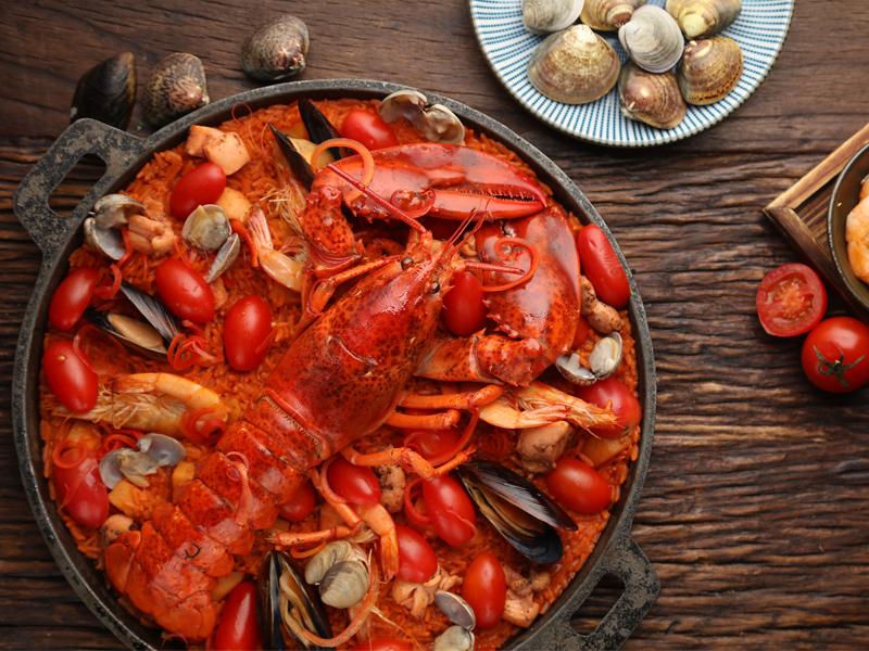 关于海鲜美食的简笔画