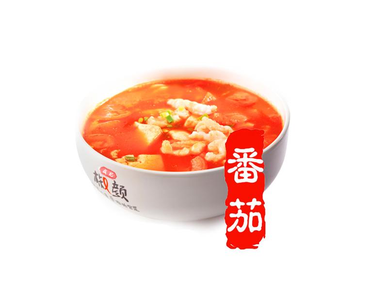 成记椒颜酸菜小鱼-鸡蛋番茄汤