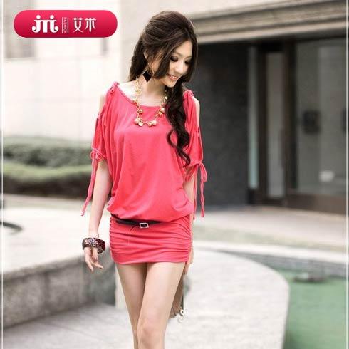 艾米-红色包臀连衣淑女裙