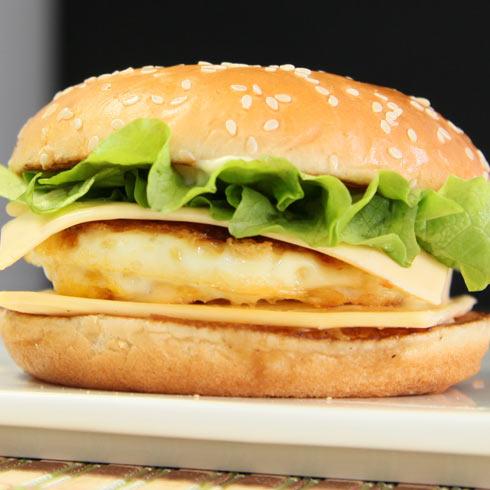 贝克汉堡芝士鸡排汉堡