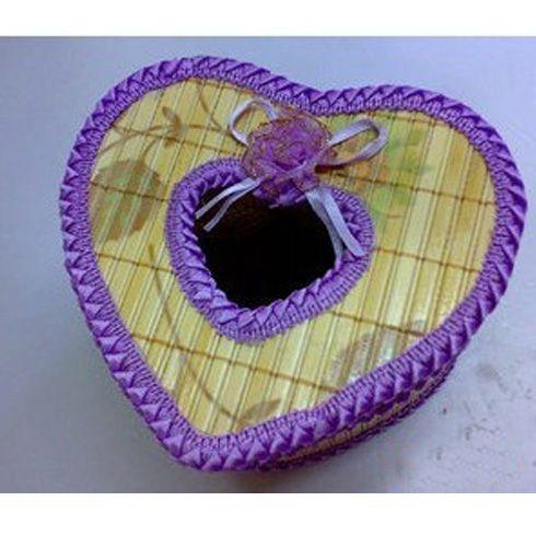 diy创意手工编织心形纸巾盒