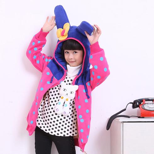 酷米3D童装-立体兔兔外套