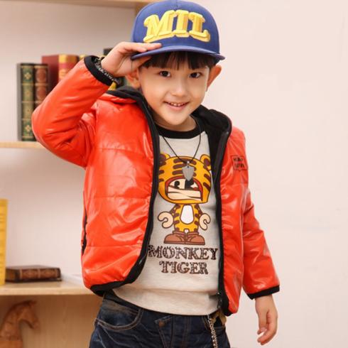 酷米3D童装-橘黄色羽绒外套