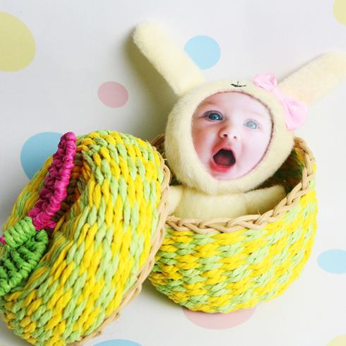 脸蛋公仔-鹅黄小兔子