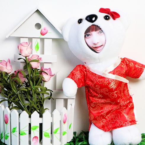 脸蛋公仔-古装小白熊