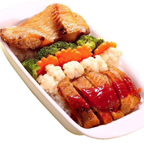 后厨传奇-鱼排鸡排双拼饭