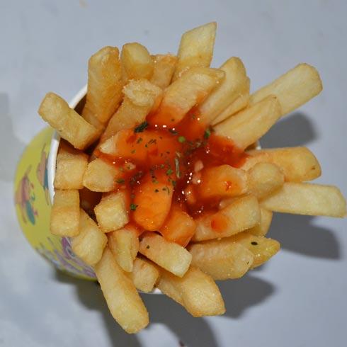 土豆切长条块步骤图