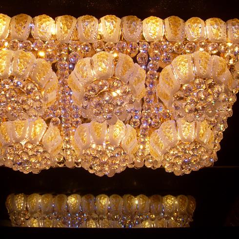 至尊拉美黄水晶吸顶灯