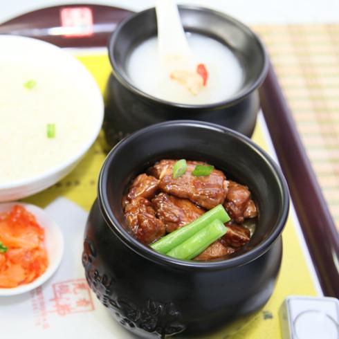 瓦罐香沸-排骨豆角饭套餐