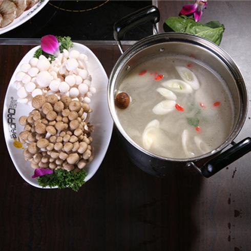 泡泡小火锅-清汤锅底+菌类