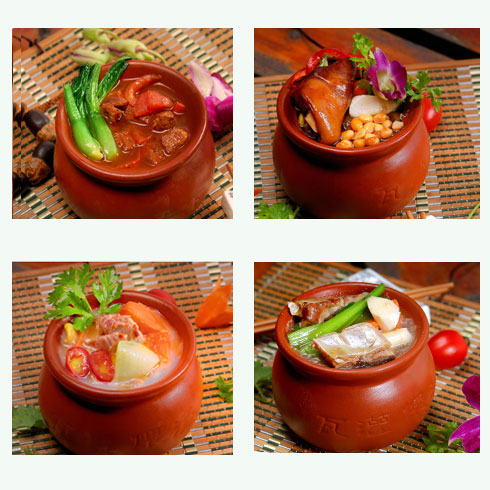 古色传香瓦罐煨菜