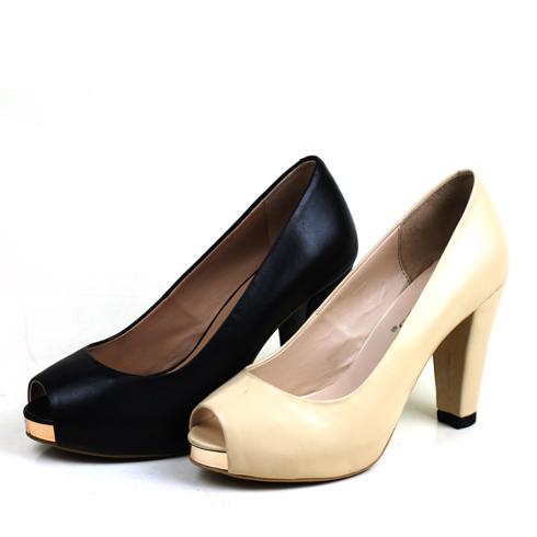 麦丽尔简约气质职场高跟女鞋
