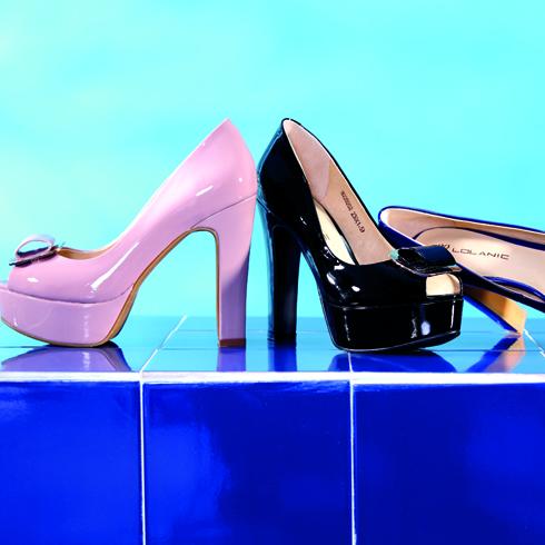 高防水台超高跟亮色女鞋