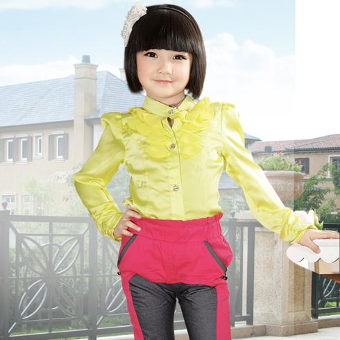 贝蕾尔女童衬衫