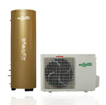 昊美达空气能热水器--昊美达分体式空气能热水器300L香槟金