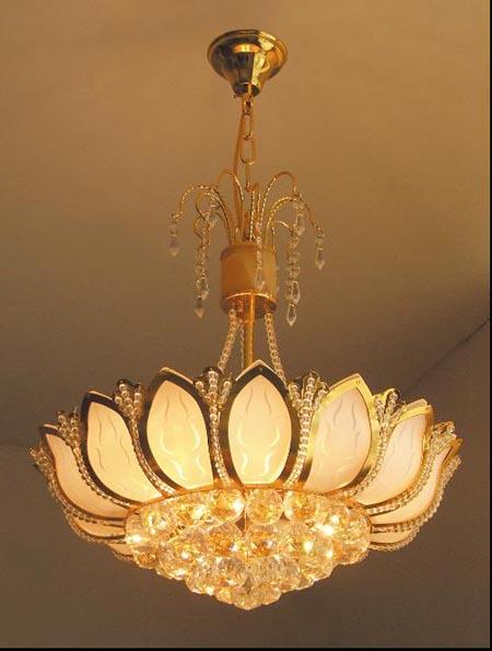 卡耐基照明-家居吸顶灯系列:黄色水晶灯