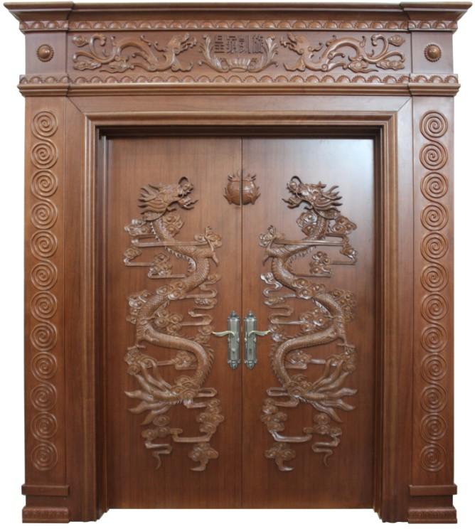 皇家凯旋木门仿古对开门