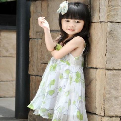 童话乐园夏日绿色印花小裙子