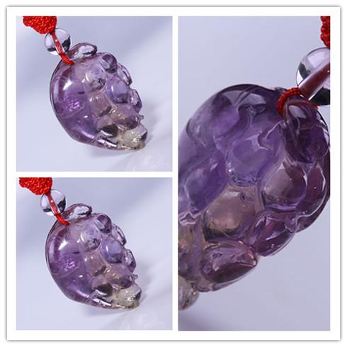 水晶坊紫黄晶-盒装吊坠系列