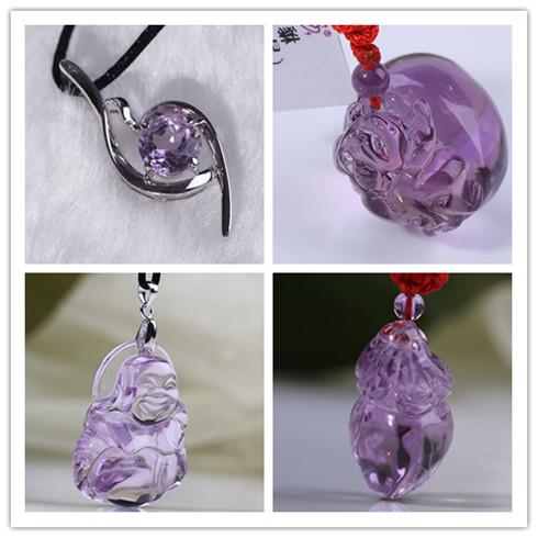 水晶坊紫水晶-盒装吊坠系列