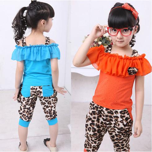 韩版新款2013女童吊带套装