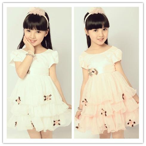 韩版童装时尚公主裙短袖连衣裙