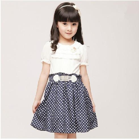 女童雪纺休闲连衣裙