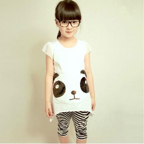 新款韩版儿童宝宝短袖运动套装