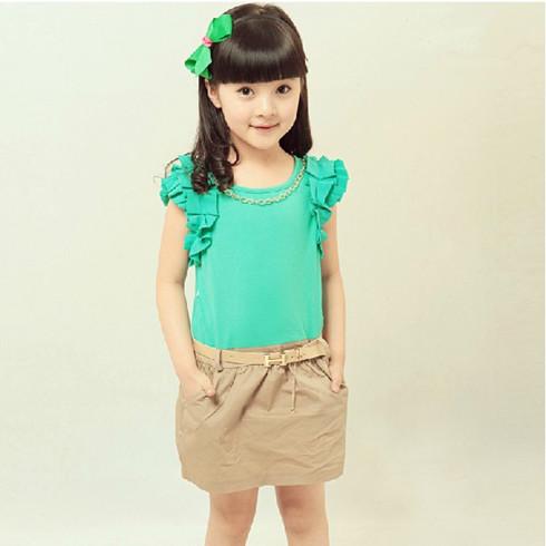 新款韩版儿童学院风裙子