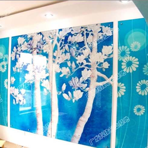 哥凡尼冰晶画背景墙