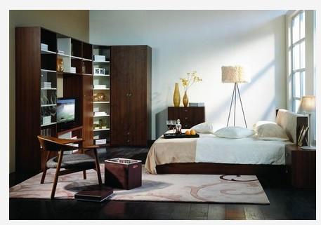 曲美现代家具欧式组合卧室