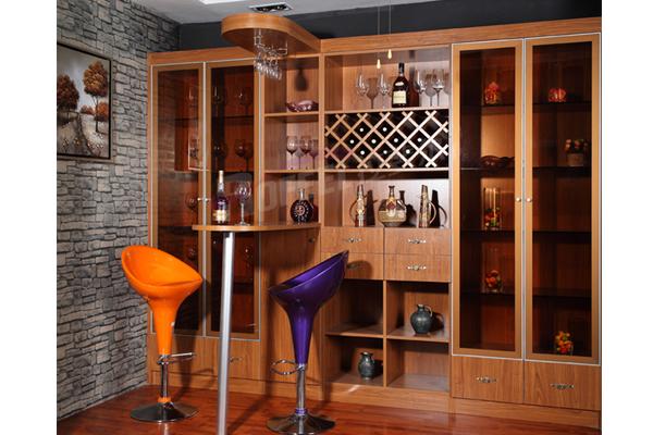 拉斐尔整体家具酒柜,客厅酒柜隔断柜效果图,推拉门款式有百叶,拉丝,藤