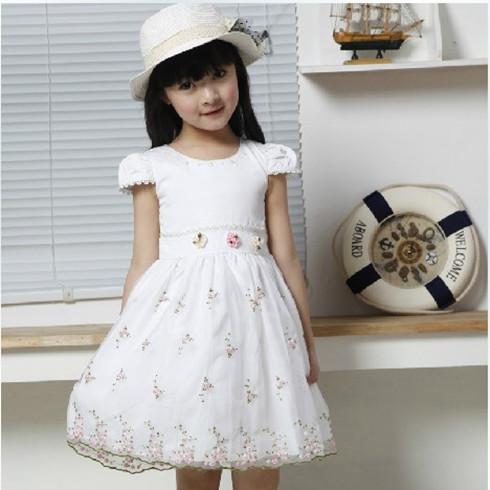 熊贝儿2013夏装新款白色公主裙