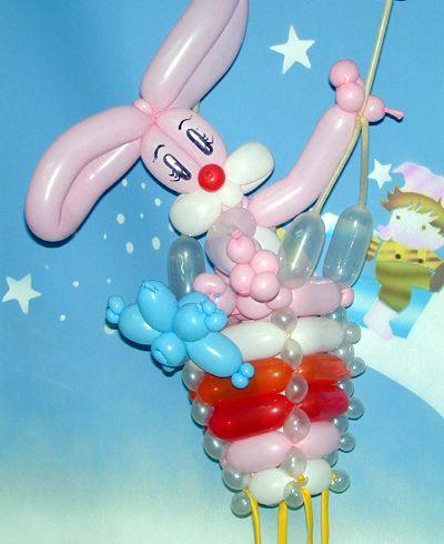 百变魔法气球-小兔子