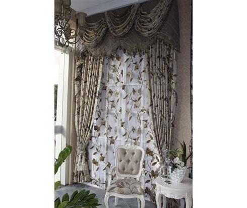 田园式的窗帘布艺,英式风格的窗帘,帝莎布艺英式田园图片