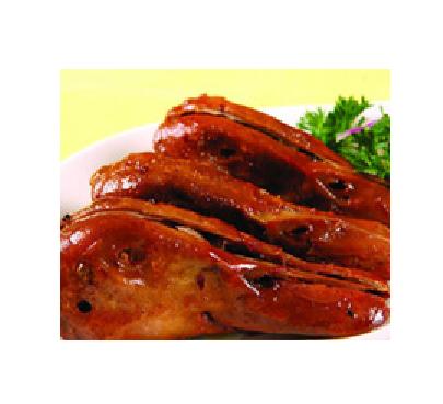 食脖汇果木碳烤鸭头