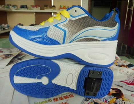 酷客淡蓝色运动鞋