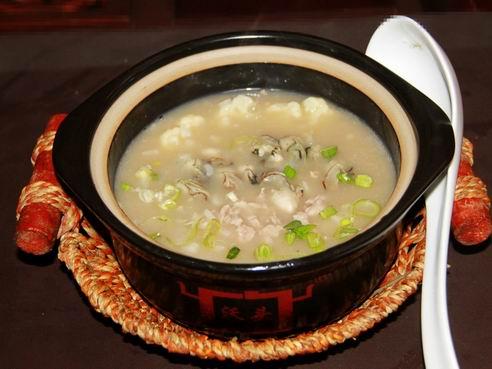 沃头蚝干粥-生蚝瘦肉粥