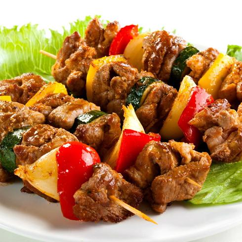 食里留香小吃车蔬菜烤肉