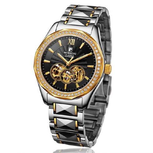 罗西尼镂空机械表--男士手表