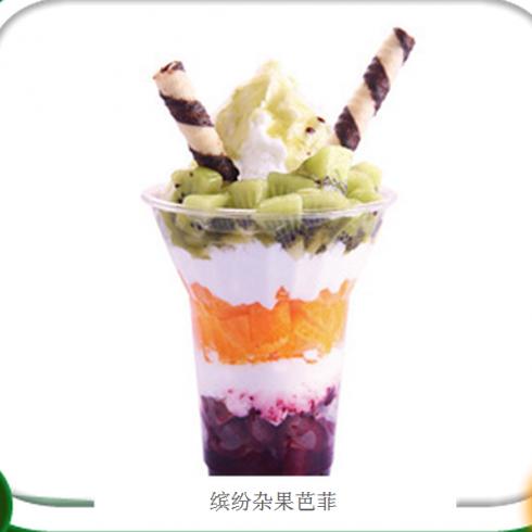 水果巴菲冰激凌 特色水果冰欺凌 水果捞香蕉水果巴菲冰激凌