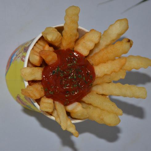 土豆心愿辣番茄沙司曲薯