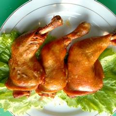 龙府烤鸡架子烤鸡腿