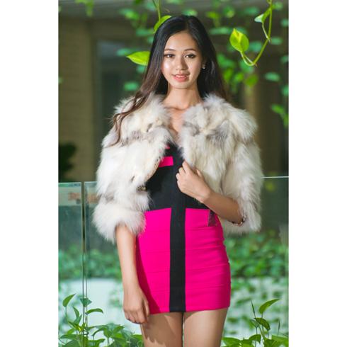 时尚韩版女装仿毛皮草马甲外套短款中袖背心马夹