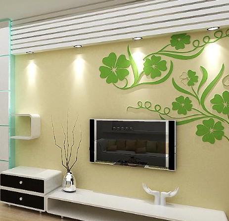 植彩电视背景墙墙纸