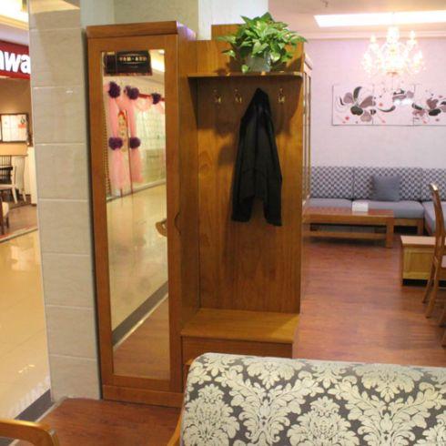 门厅柜鞋柜 衣帽柜 玄关鞋柜挂衣门厅柜 华林世 高清图片